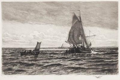 Fiskerkvase og robåde