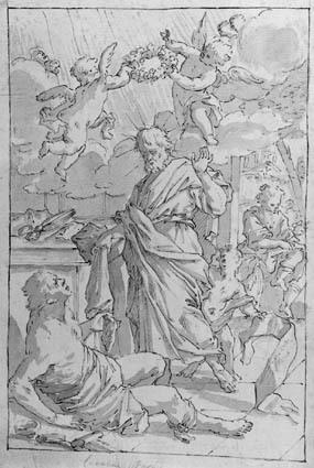 A good deed of St Homobonus (?)
