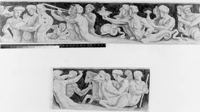 Frieze with a procession of tritons