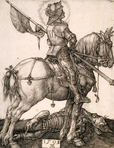 Image from object titled St. George on horseback