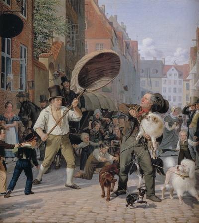 En gadescene i hundedagene