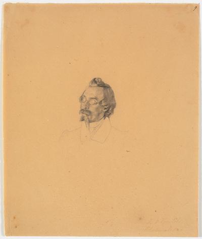 Portræt af glasmaler Friedrich Vörtel