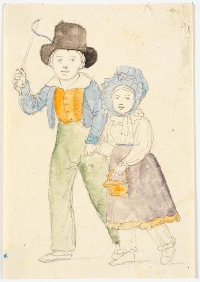 To gående børn