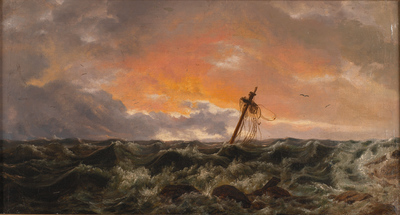 Seascape with a Wreck
