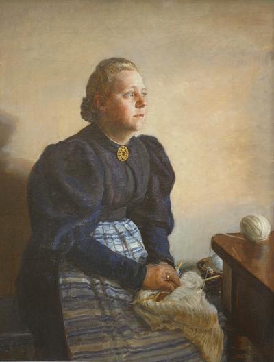 Betty Jerndorff, f. Matthison-Hansen, kunstnerens hustru