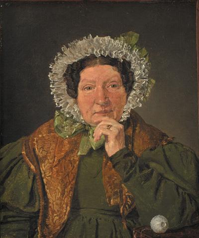 Portrait of the Artist´s Mother, Cecilia Margrethe Købke, née Petersen