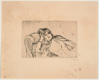 Kvinde liggende på en sofa (Jeanne-Marie)