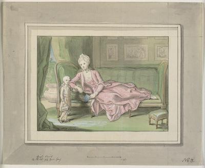 Tredje udkast til maleri af Caroline Mathilde og Frederik