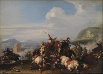 Battle Scene with Turkish Cavalry