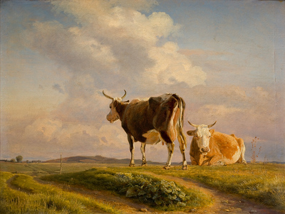 Image from object titled Two Cows in an Open Field