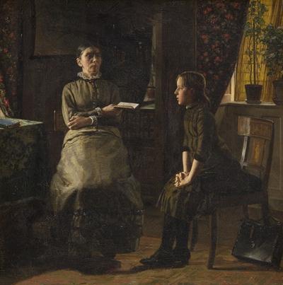 Lærerinde og elev
