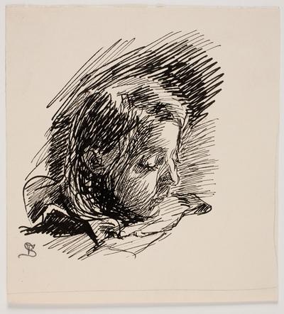 Hoved af kunstnerens datter Clara (Nolle)