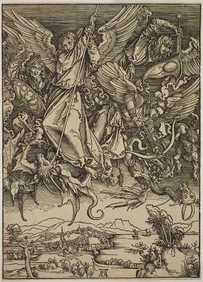 Image from object titled St. Michael Fighting the Dragon