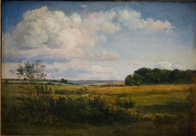 Landscape with Sunlit Clouds