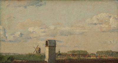 View from a Window in Toldbodvej Looking Towards the Citadel in Copenhagen