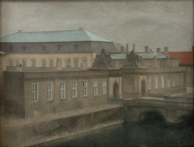 View of Christiansborg Palace. Late Autumn