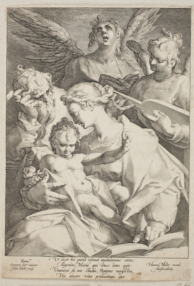 The Holy Family Attended by Angels