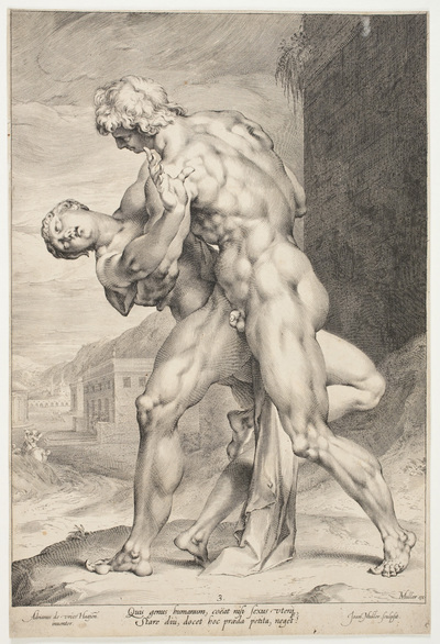 A Roman Abducting a Sabine Woman