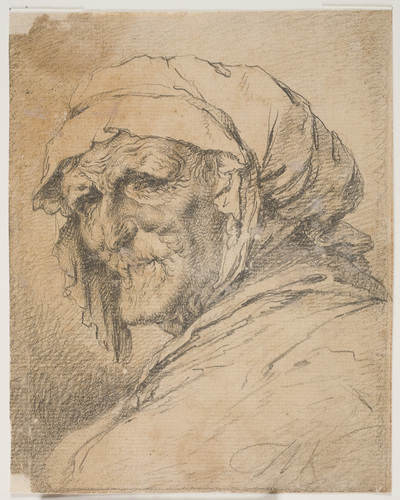Head of an old woman