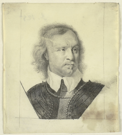 Head and shoulders portrait of Oliver Cromwell