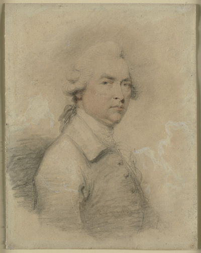 Head and shouldres portrait of a man turned to the right