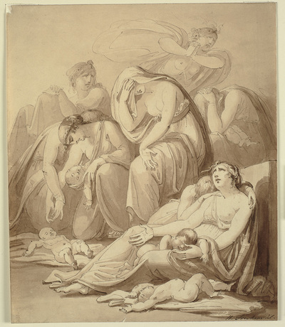 Mothers lamenting after the Massacre of the Innocents