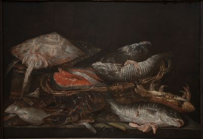 Still Life with Fish on a Stone Table