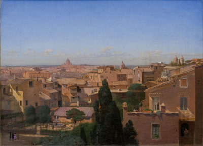 A View of Rome Seen from the Artist's Dwelling