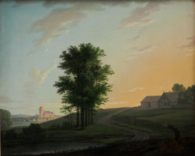 Image from object titled Evening Landscape near Gentofte, North of Copenhagen