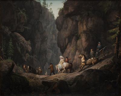 The Passage through Krokkleven near Ringerike in Norway