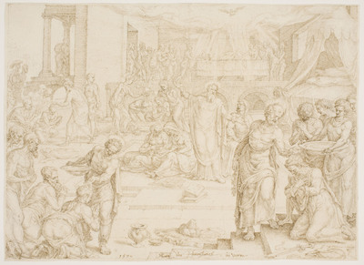 St. Peter and the other Apostles baptizing at Jerusalem