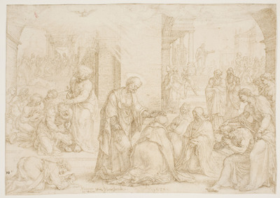 St. Philip, St. Peter and St. John laying on the Hands at Samaria