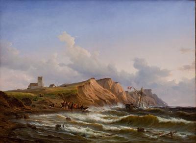 Shipwreck after a Storm off the West Coast of Jutland near Ferring Church