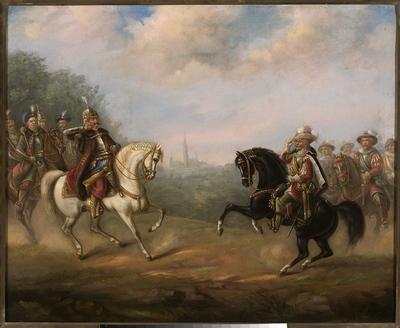 Spotkanie Jana III Sobieskiego z cesarzem Leopoldem pod Wiedniem