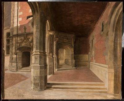Krużganek zamku w Blois