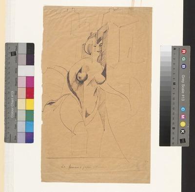Kobieta w podkasanej spódnicy