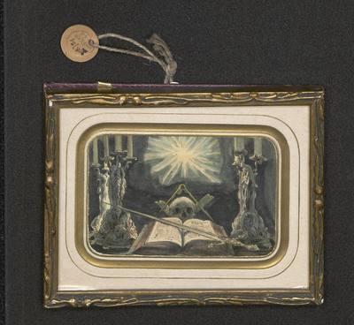 Winieta z symbolami masońskimi