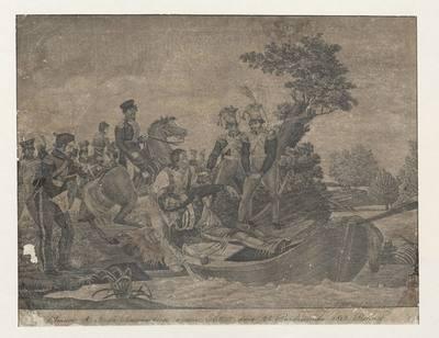 Wyłowienie zwłok księcia Józefa Poniatowskiego z Elstery