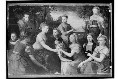 Znalezienie Mojżesza - Alegoryczny portret rodzinny