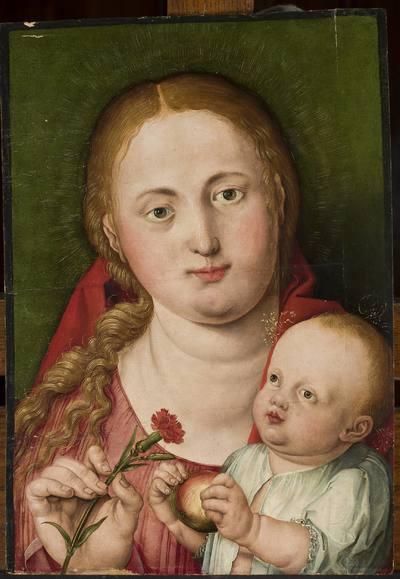 Image from object titled Madonna z Dzieciątkiem i goździkiem