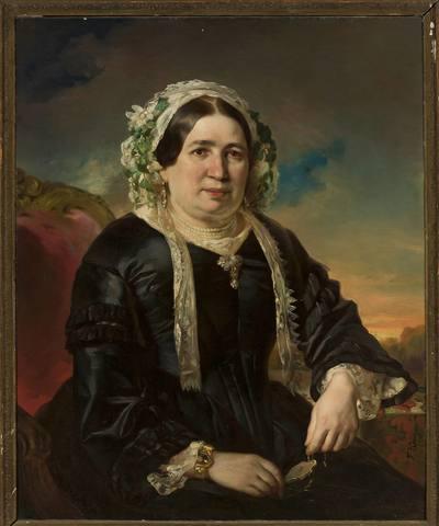 Portret kobiety w czepku