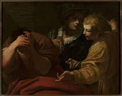 Józef objaśniający sny na dworze faraona