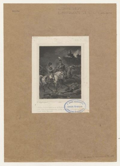 Napoleon i książę Józef Poniatowski po bitwie pod Lipskiem