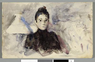 Autoportret z lampą (portret siostry?)