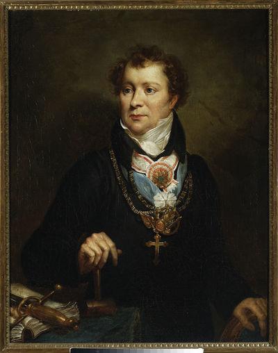 Portret Ludwika Osińskiego w stroju wolnomularskim