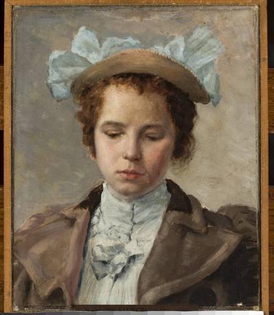 Studium portretowe młodej dziewczyny