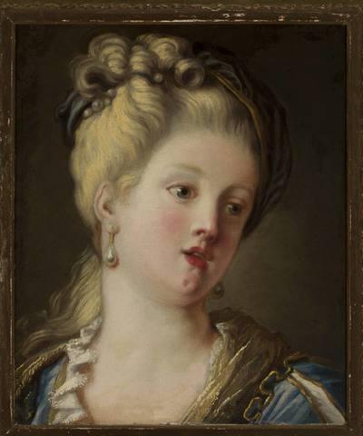 Portret Leszczyńskiej jako młodej dziewczyny