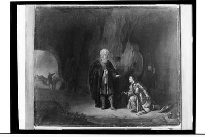 Saul i Dawid w jaskini En-gédi