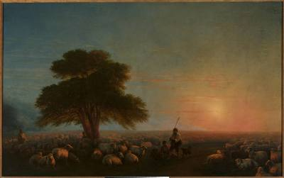 Pasterze ze stadem owiec