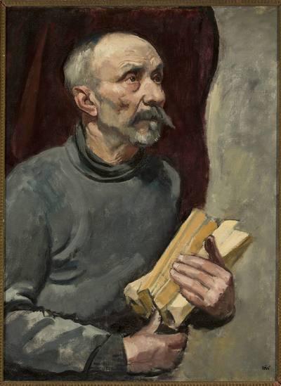Starzec z drewnem